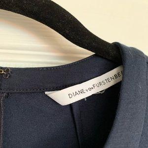 Navy Diane von Furstenberg dress, small, EUC